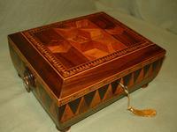 Specimen Wood Tunbridge Ware Style Parquetry Box c.1830