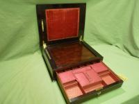 Unusual Rosewood Combination Jewellery / Work / Lectern Writing Box c.1845