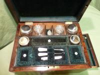 Fully Fitted Rosewood Jewellery – Vanity Box c.1870 (3 of 14)
