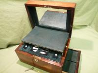 Fully Fitted Rosewood Jewellery – Vanity Box c.1870 (5 of 14)