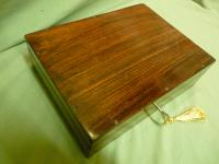 Solid Rosewood Artist Paint Box c.1880 (2 of 13)