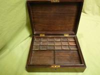 Solid Rosewood Artist Paint Box c.1880 (3 of 13)
