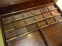Solid Rosewood Artist Paint Box c.1880 (8 of 13)