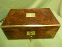 Brass Bound Burr Writing Box. Secret Drawers + More. C1870 (12 of 13)