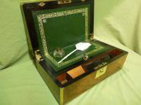 Brass Bound Burr Writing Box. Secret Drawers + More. C1870 (2 of 13)