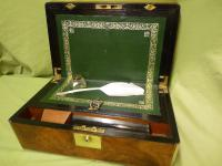 Brass Bound Burr Writing Box. Secret Drawers + More. C1870 (13 of 13)