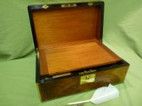 Brass Bound Burr Writing Box. Secret Drawers + More. C1870 (9 of 13)