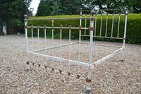 Victorian Brass and Iron Double Bedstead. Bed Fully Restored in Your Choice of Colour