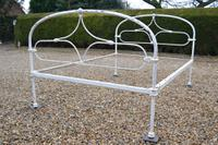 Victorian All Iron Double Cottage Bedstead. Bed Fully Restored in Your Choice of Colour