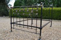 Super Victorian Brass & Iron Double Bedstead. Bed fully restored in your choice of colour