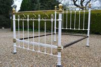 Victorian Brass & Iron Double Bedstead. Bed fully restored in your choice of colour