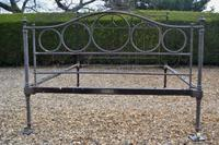 Victorian Brass & Iron King Size 5ft Bedstead by Winfield. Bed fully restored in your choice of colour