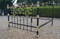 Victorian Brass & Iron King Size 5ft Bedstead. Bed fully restored in your choice of colour