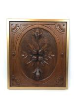 Carved Lime Wood Panel in Gold Frame c.1740