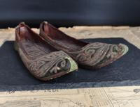 Antique Persian Slippers, 19th Century Shoes (9 of 9)
