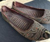 Antique Persian Slippers, 19th Century Shoes (4 of 9)