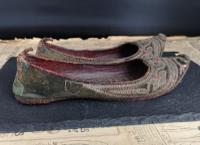 Antique Persian Slippers, 19th Century Shoes (5 of 9)