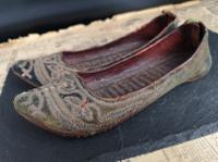 Antique Persian Slippers, 19th Century Shoes (7 of 9)