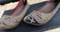 Antique Persian Slippers, 19th Century Shoes (8 of 9)