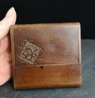 Antique Wooden Calling Card Case
