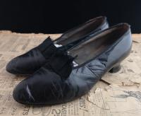 Antique Ladies Leather Shoes, Bow Front c.1910 (9 of 11)