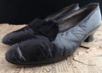 Antique Ladies Leather Shoes, Bow Front c.1910 (10 of 11)