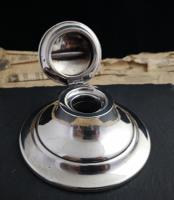 Art Deco Sterling Silver Capstan Inkwell