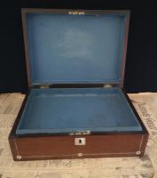 Antique Rosewood & Mother of Pearl Work Box (10 of 12)