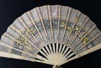 Antique Victorian Bone Hand Fan, Hand Painted (11 of 12)
