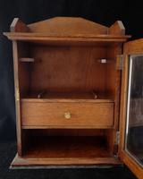 Antique Early Victorian Oak Smokers Cabinet (3 of 14)