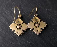 Antique Victorian Diamond Earrings, 9ct Gold (2 of 9)