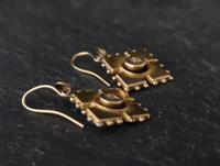 Antique Victorian Diamond Earrings, 9ct Gold (4 of 9)