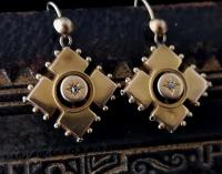 Antique Victorian Diamond Earrings, 9ct Gold (7 of 9)