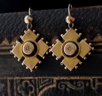 Antique Victorian Diamond Earrings, 9ct Gold (6 of 9)