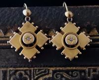 Antique Victorian Diamond Earrings, 9ct Gold (8 of 9)