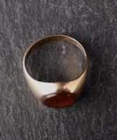 Vintage Art Deco 9ct Gold Signet Ring, Carnelian (11 of 13)