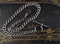 Antique Silver Albert Chain, Watch Chain (3 of 11)