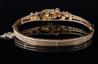 Victorian 18ct Gold Bangle, Pearl & Diamond (6 of 21)