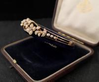 Victorian 18ct Gold Bangle, Pearl & Diamond (18 of 21)