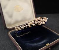 Victorian 18ct Gold Bangle, Pearl & Diamond (17 of 21)