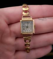Vintage Art Deco 18ct Gold Ladies Wristwatch (2 of 12)