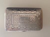 Joseph Willmore. Silver Snuff Box, Birmingham 1824