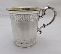Stunning Antique Sterling Solid Silver 1/2 Pint Tankard 1864 6oz