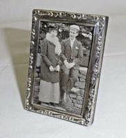 Solid Sterling Silver Easel Type Photograph Frame 1922