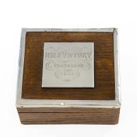 Silver Mounted Commemorative Box made from 'Victory' Oak