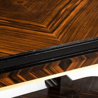 Stylish Art Deco Zebra Wood Centre or Dining Table (10 of 10)