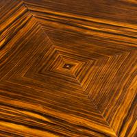 Stylish Art Deco Zebra Wood Centre or Dining Table (9 of 10)