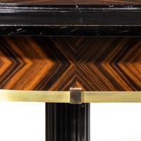 Stylish Art Deco Zebra Wood Centre or Dining Table (6 of 10)