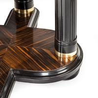 Stylish Art Deco Zebra Wood Centre or Dining Table (5 of 10)