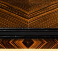 Stylish Art Deco Zebra Wood Centre or Dining Table (3 of 10)
